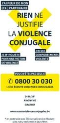 Violences conjugales :  le numéro d'écoute 0800 / 30 030 est à disposition