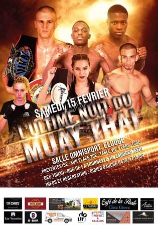 La nuit du Muay Thai - Salle Omnisport Elouges - 15 février 2020