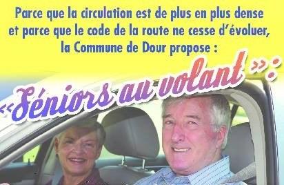 Senior au volant banniere